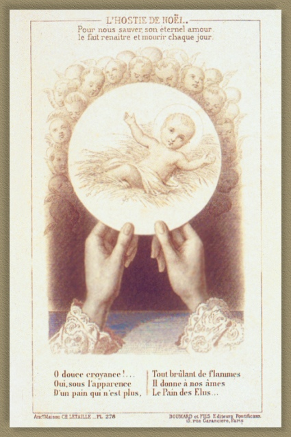 Eucharist Card dear to St. Therese