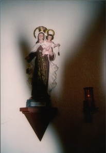 Our Lady of Mt. Carmel in the vestibule of Our Lady of the Angels in Irondale, AL.